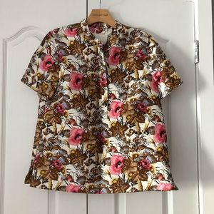 J. Crew Collection Antiqued Floral Shirt Top NEW